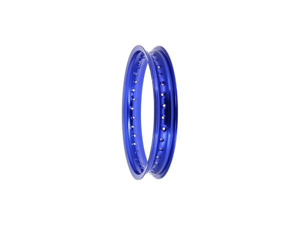 """Felge 2,15 x 16"""" Alufelge, Blau eloxiert - für MZ ES175, ES250, ES300, ETS250, TS250, ETZ251, ETZ301,  10070010 - Bild 1"""