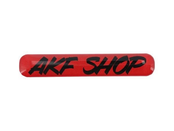 "10070615 Gelaufkleber - ""AKF Shop"" rot/schwarz - Bild 1"