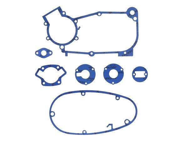 Dichtungssatz aus Kautasit Motortyp M53, M53/1, Flanschdichtung 1/2mm, Ø 16mm - für Schwalbe KR51/1, SR4-1 Spatz, SR4-2 Star, SR4-3 Sperber, SR4-4 Hat,  GP10000599 - Bild 1