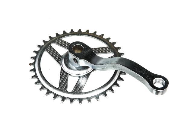10065508 Kurbel mit Kettenrad,rechts - für Simson SL1 Mofa - Bild 1