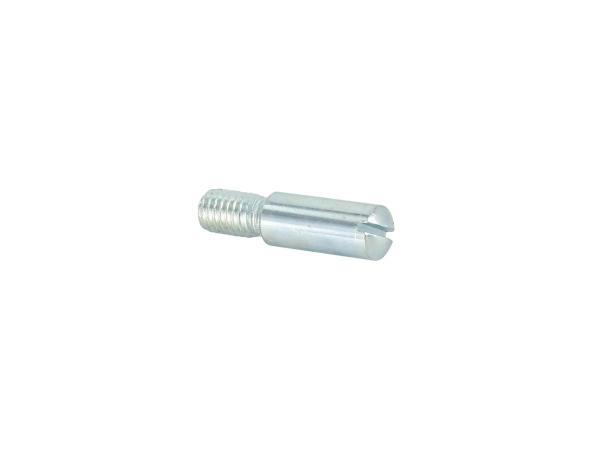 Befestigungsschraube - kurz - 6x25 - Gewinde M5 - verchromt  -  für Handhebel Simson,  10059903 - Bild 1