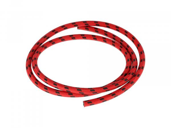 Zündkabel Textilummantelt, Rot/Schwarz - 1m,  10069875 - Bild 1